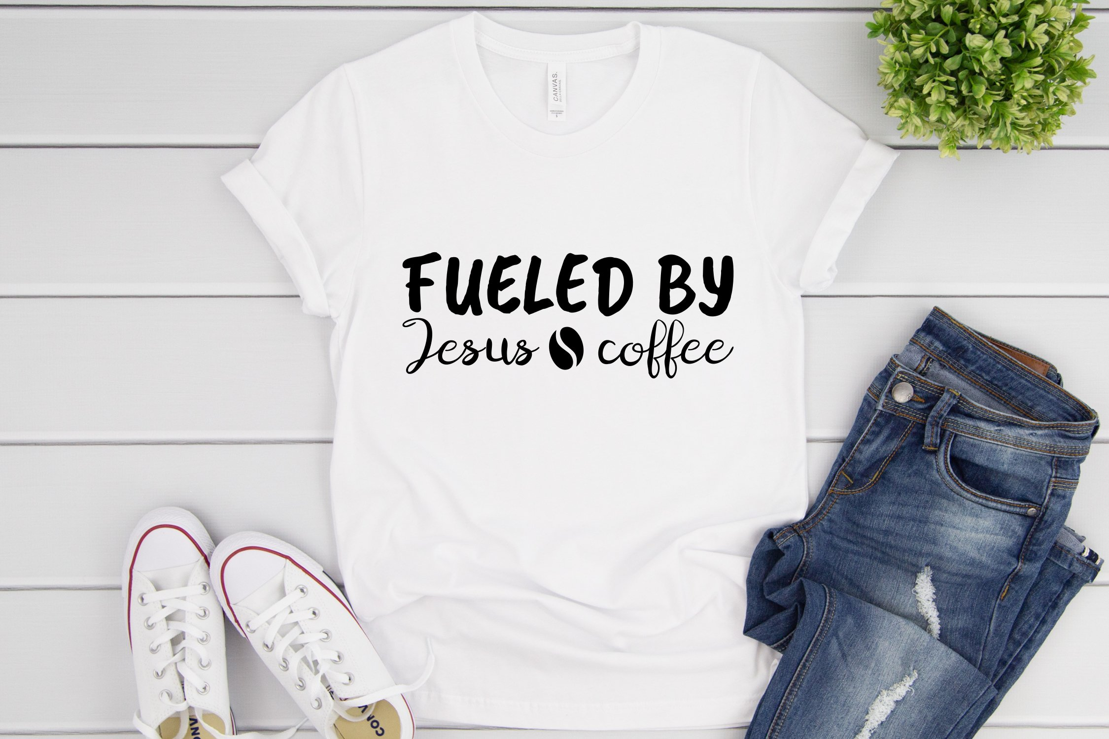 Fueled By Jesus And Coffee Svg Coffee Cup Svg Cut Files 947648 Cut Files Design Bundles
