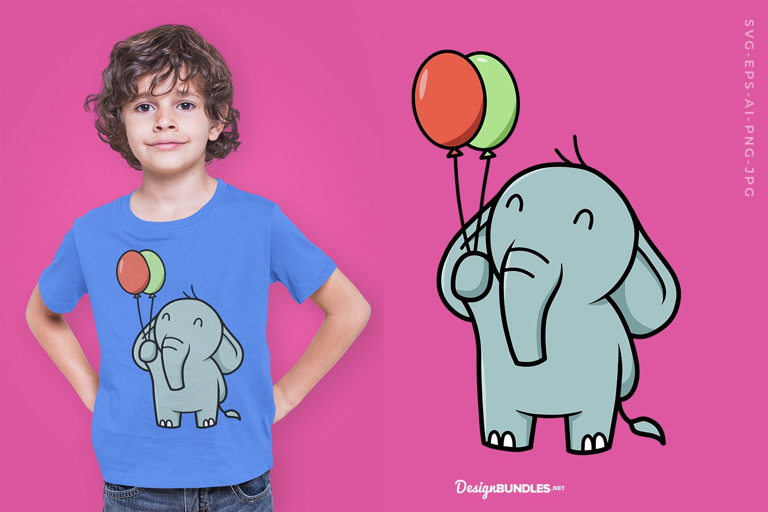 Elephant with balloons example image 1