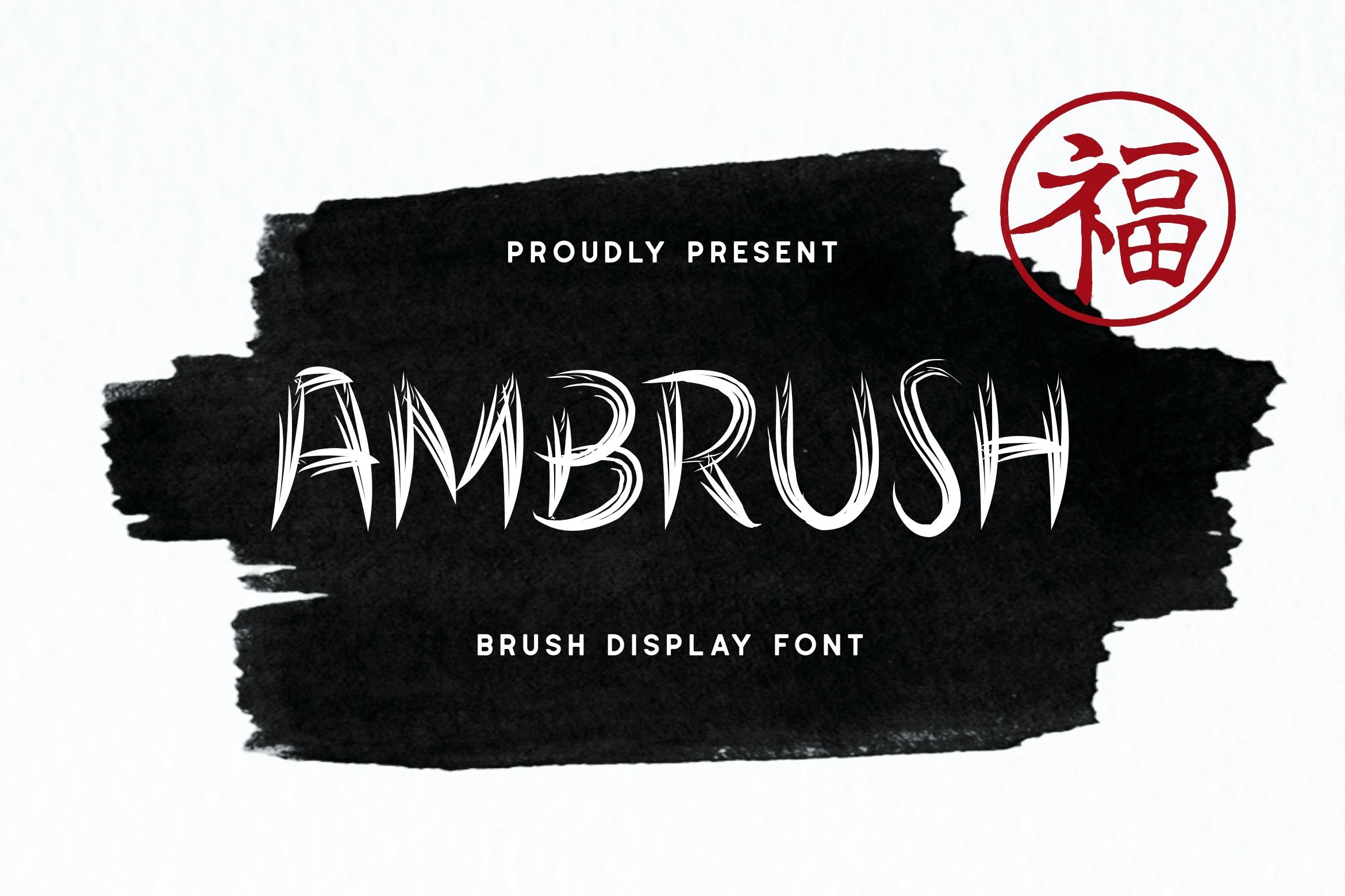 Ambrush Display Font example image 1