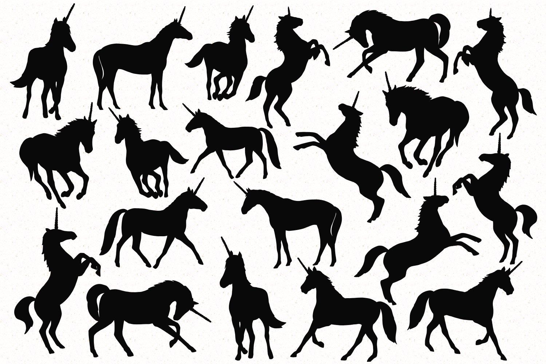 Unicorn Silhouette set example image 2