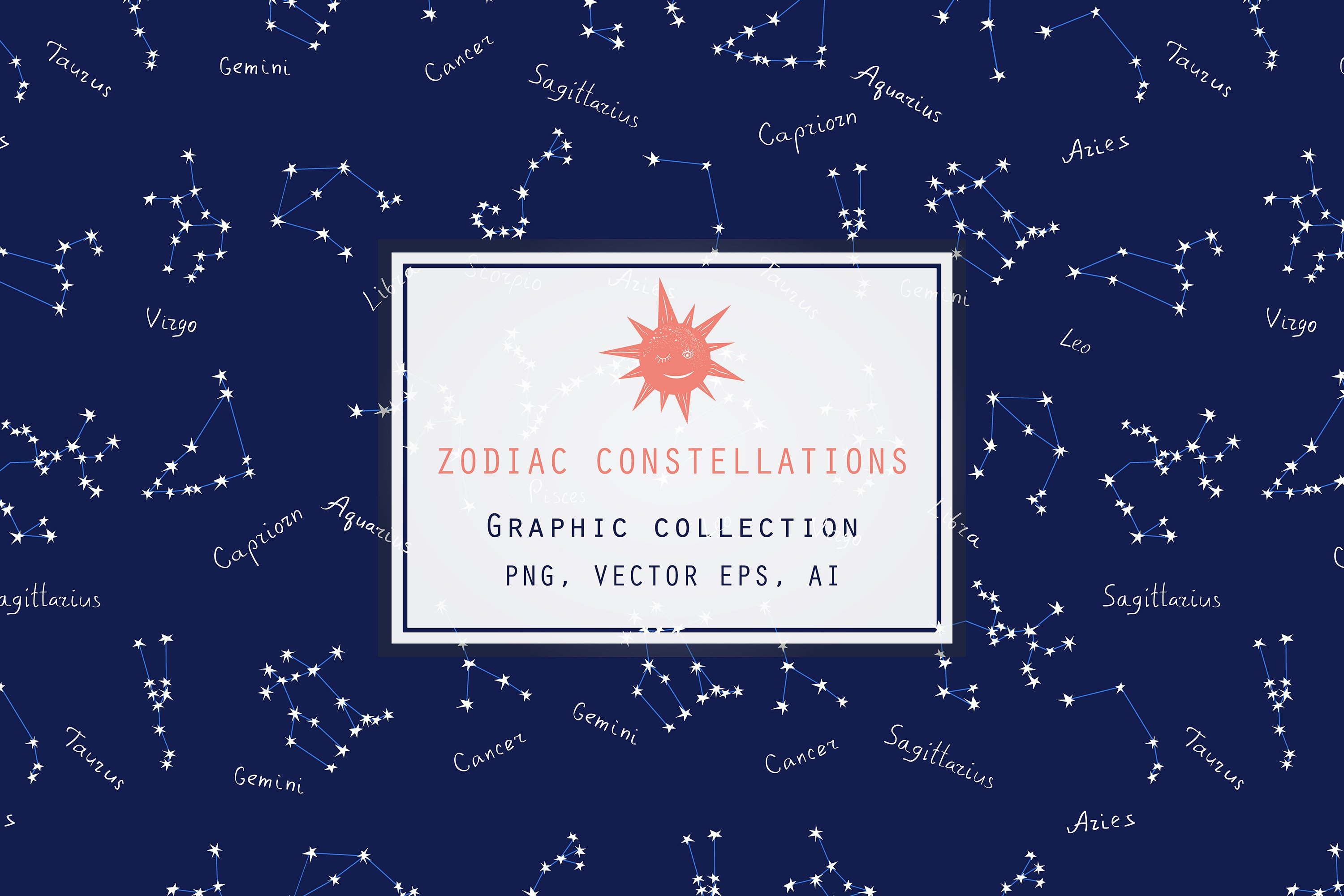 Zodiac constellations - Graphic collection example image 1