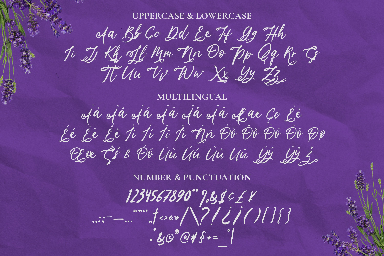 Lavender Script example image 3
