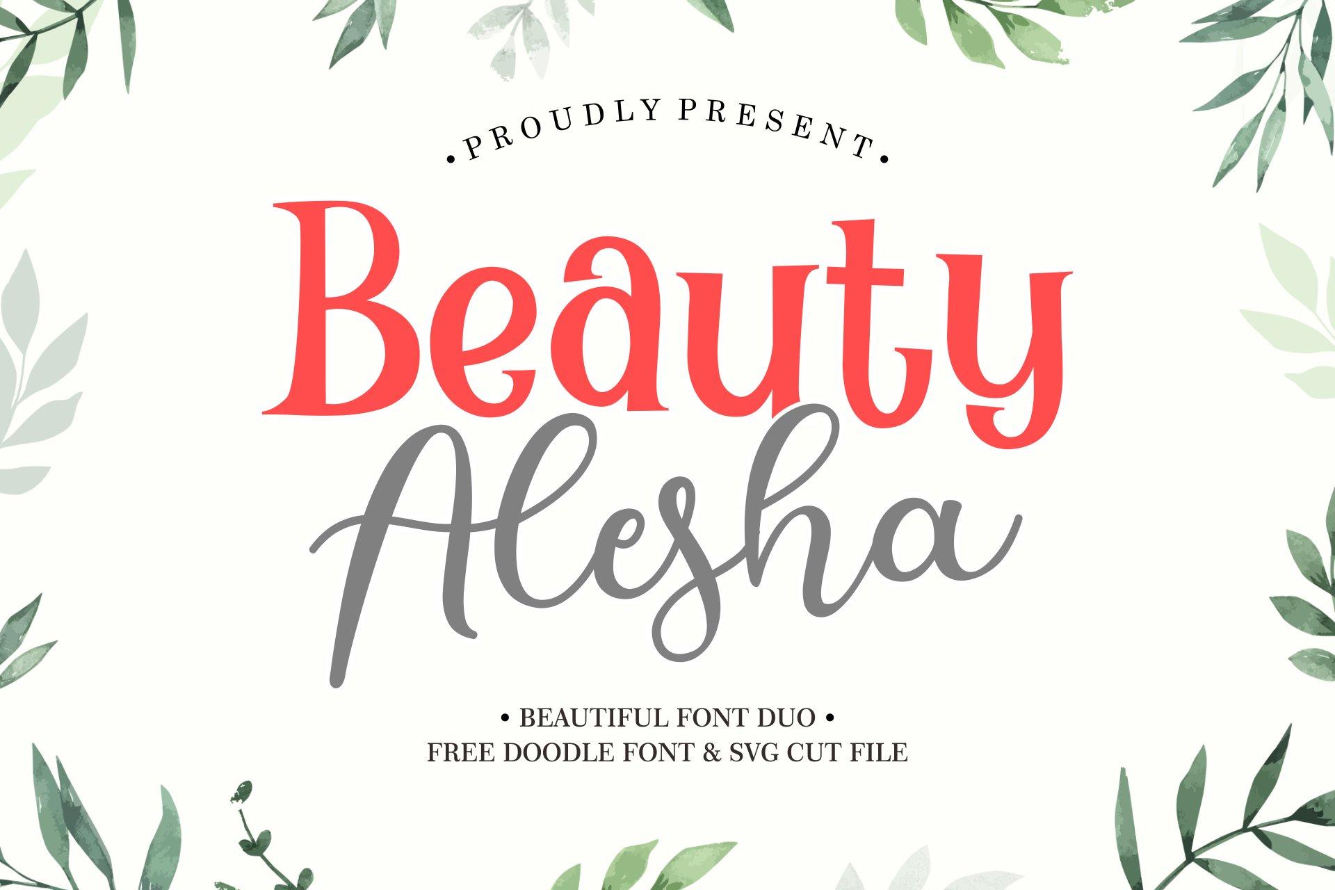 Beauty Alesha Font Duo example image 1