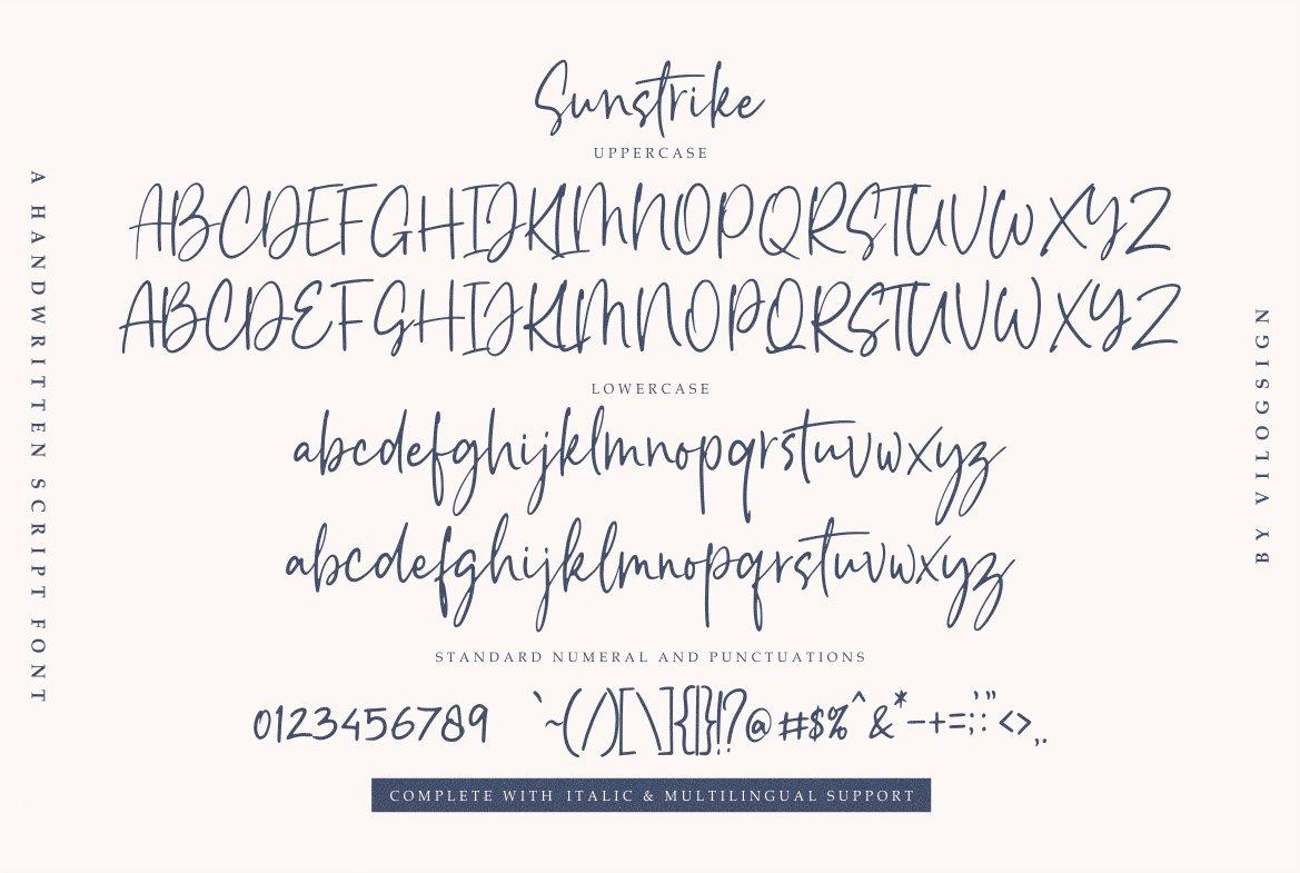 Sunstrike a Handwritten Script Font example image 8
