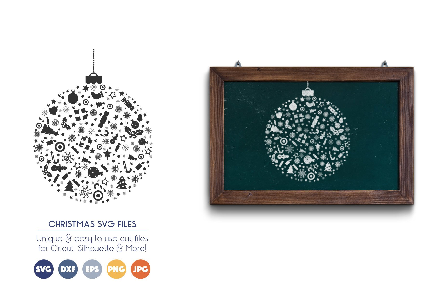 Christmas Ornament SVG Files example image 1