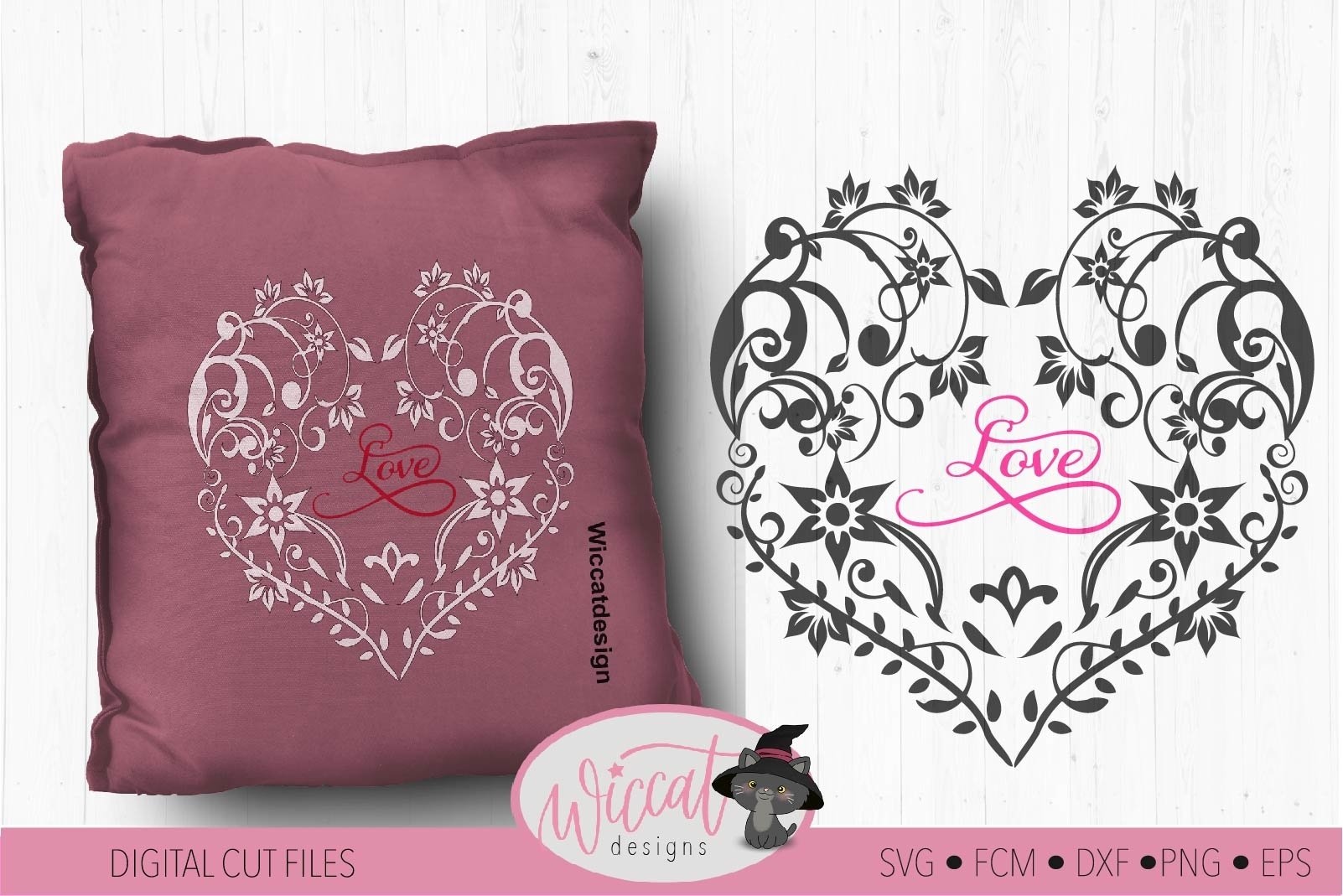 Flower Heart Svg Mothers Day Lace Cut File Glass Block 55043 Svgs Design Bundles