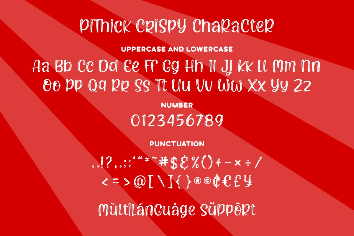 Pithick Crispy | a funny and quirky font example image 6