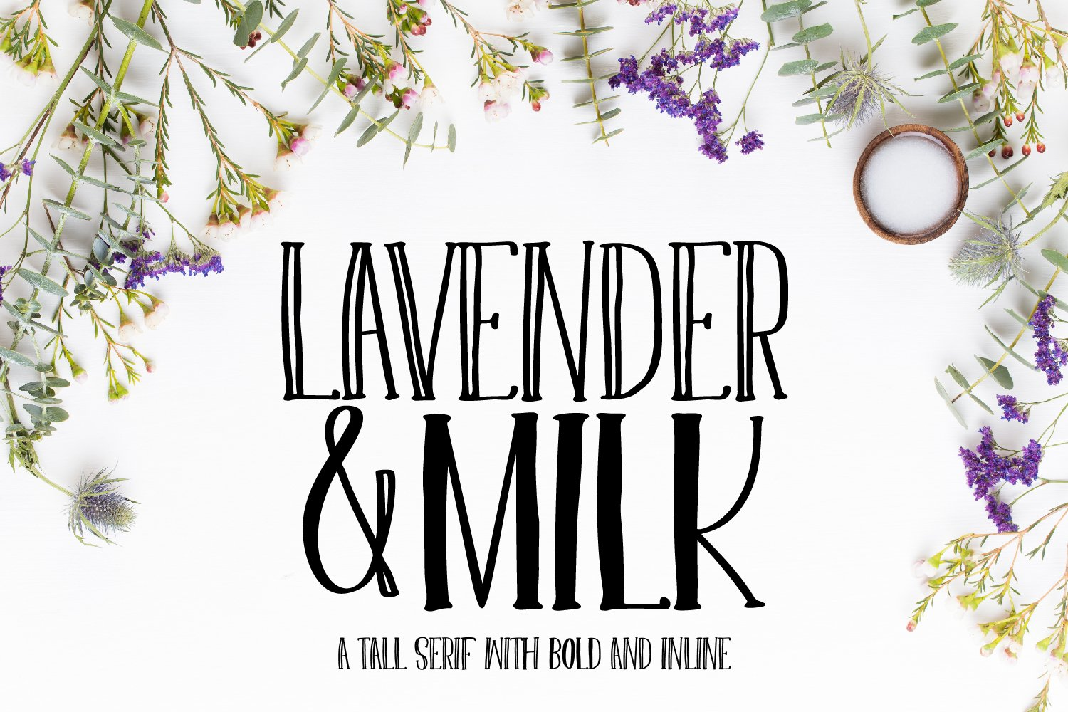 Lavender & Milk- A Tall Serif with Bold and Inline example image 1
