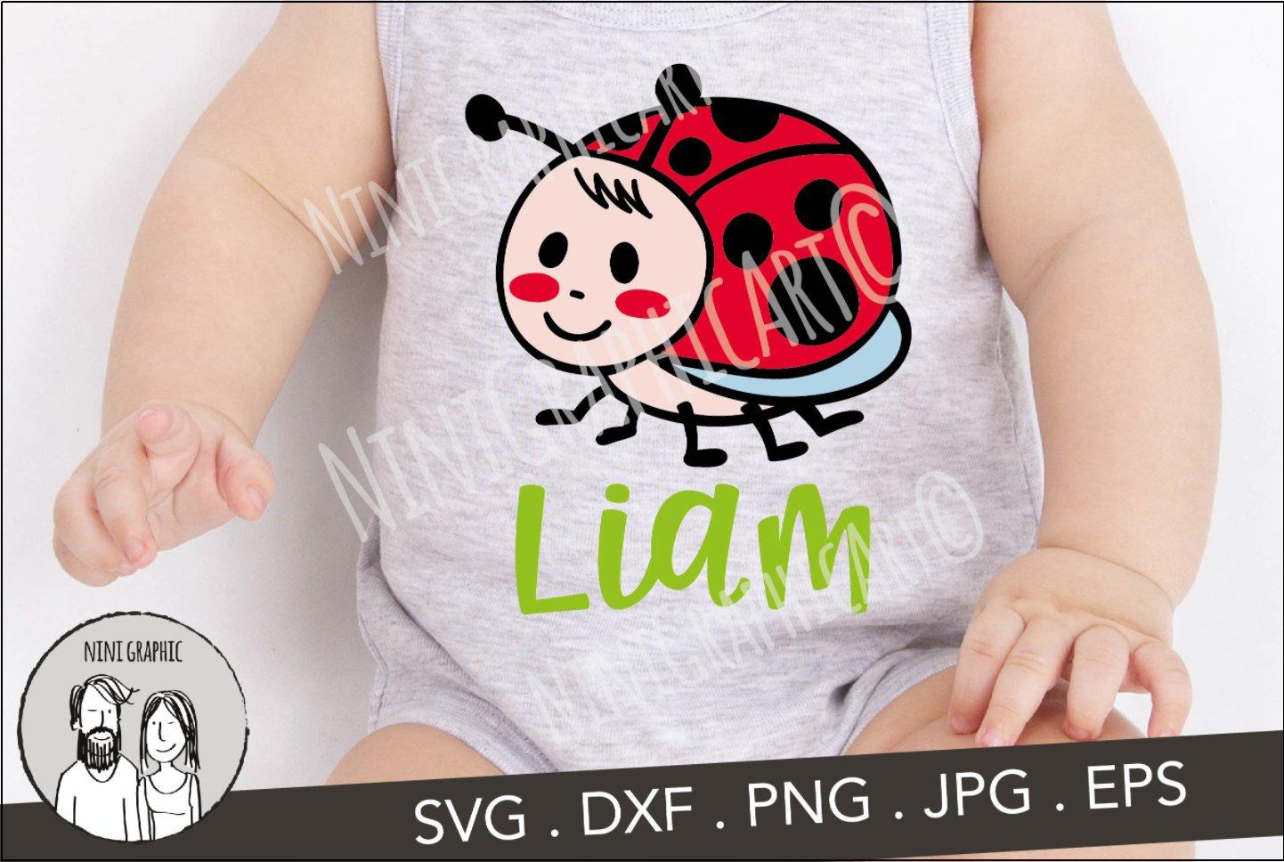 Download Ladybug Monogram (Letters Not Included) SVG