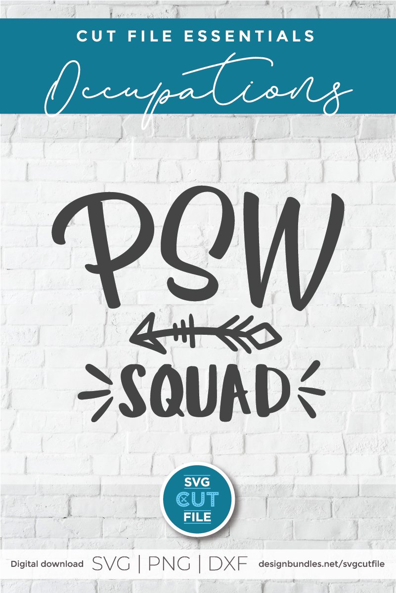 PSW squad with arrow svg-a Personal support worker svg file example image 3