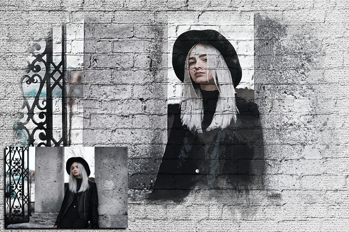Wall Paint FX for Adobe Photoshop example image 2