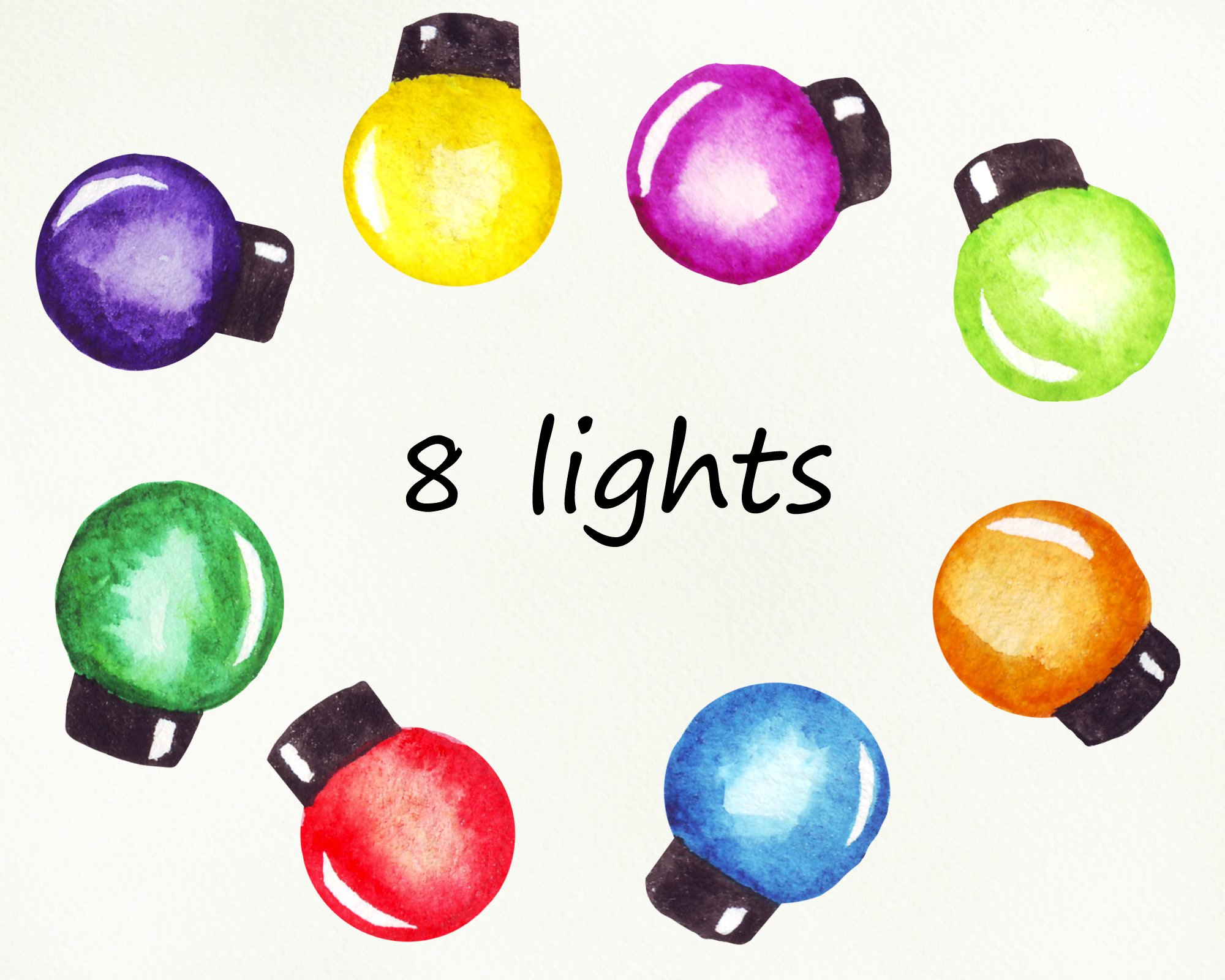 String of Christmas lights clipart, border, frame png example image 3