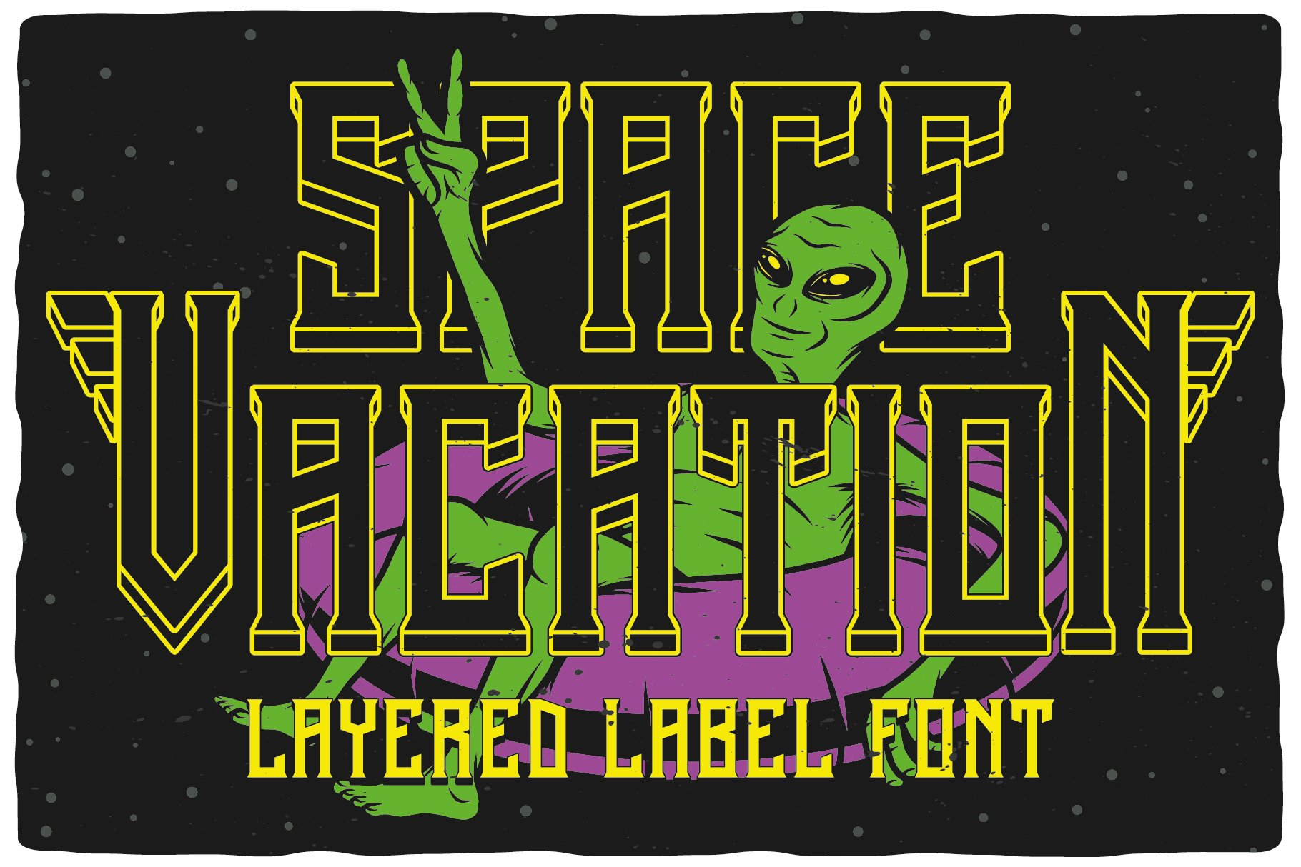 Space Vacation layered font example image 1