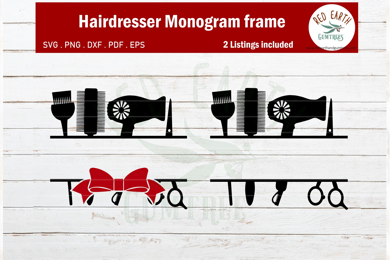 Download Hairdresser Monogram Svg Hairstylist Monogram Svg Blowdryer 434620 Cut Files Design Bundles