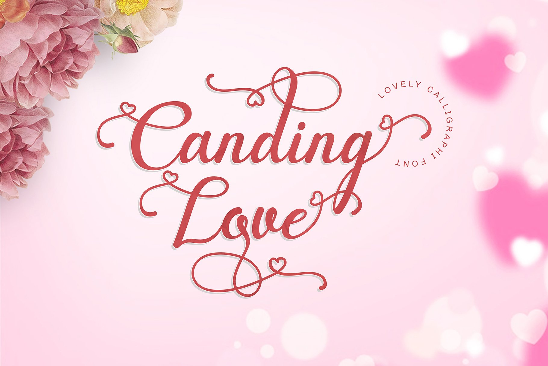 Canding Love - Script font Type face example image 2