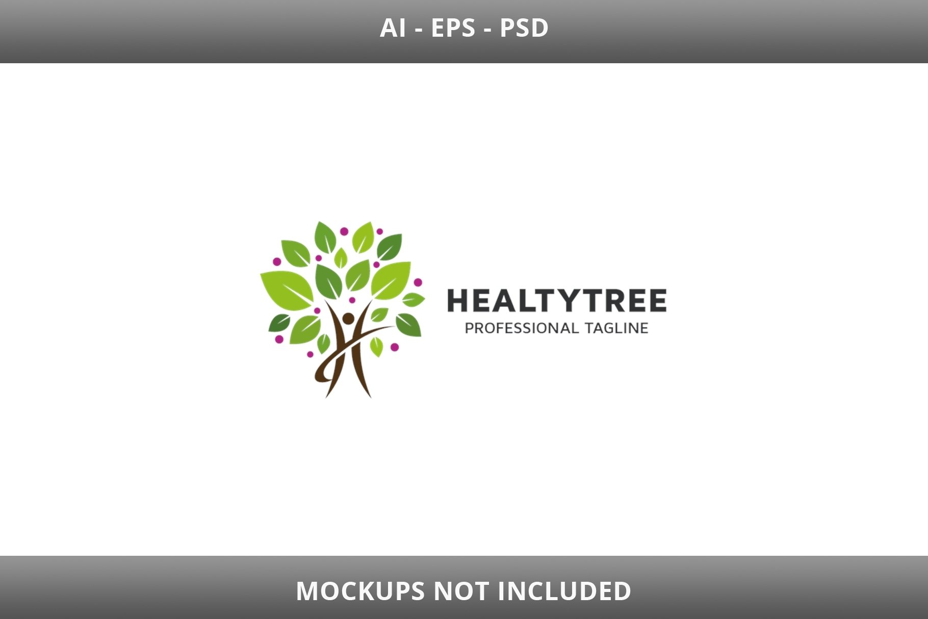 Healty Tree Letter H Logo example image 2