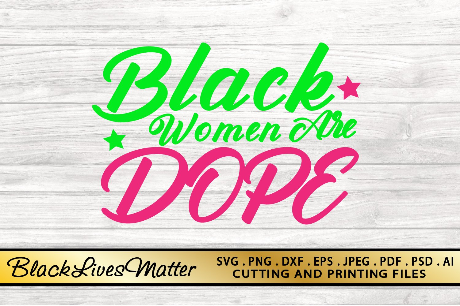 Black Woman SVG PNG EPS DXF Files For Cutting and Printing example image 4