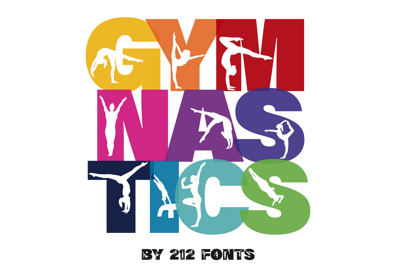 212 Gymnastics Caps Display Font Gymnast Alphabet OTF example image 2