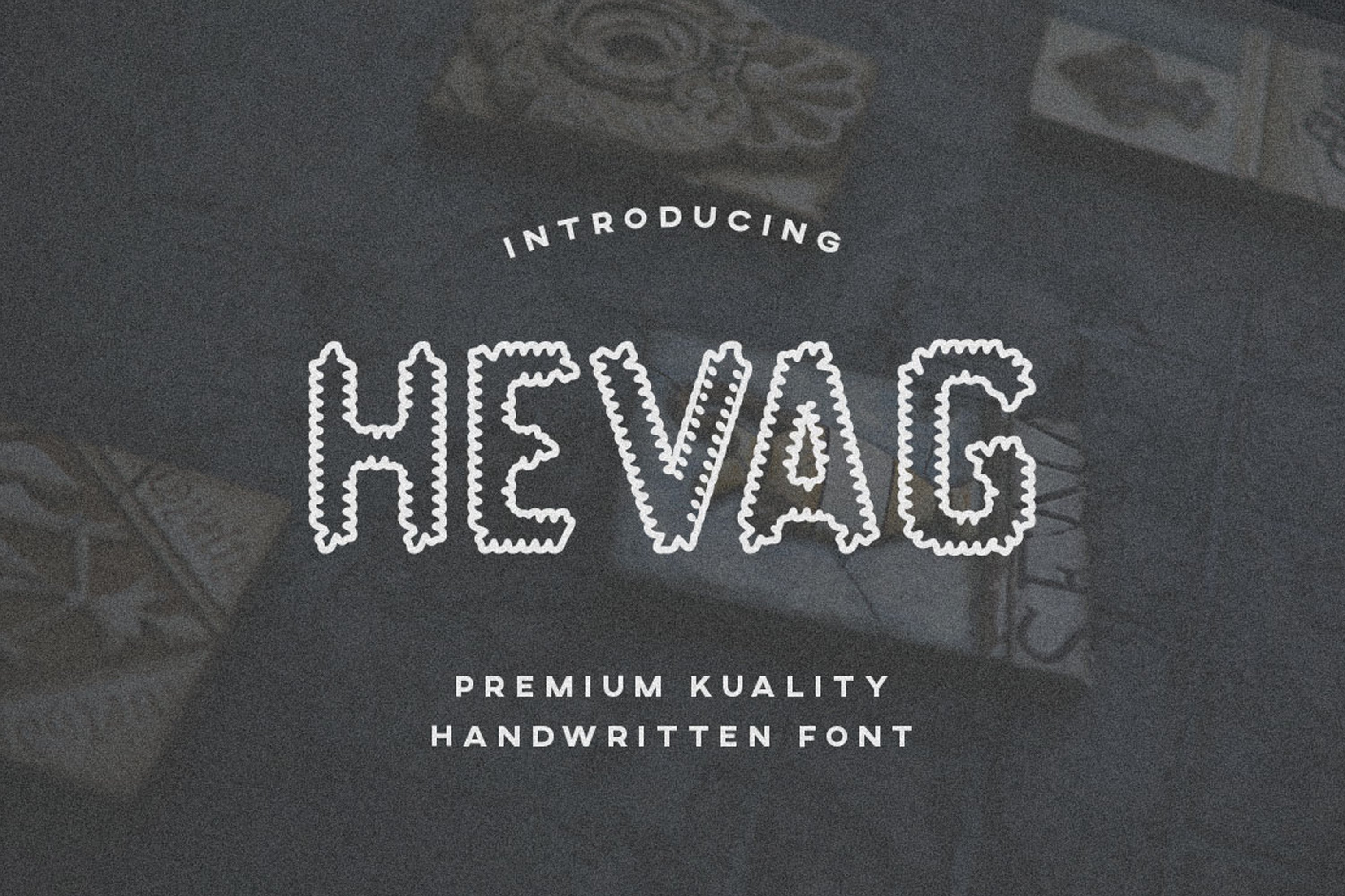 Hevag - Display Font example image 1
