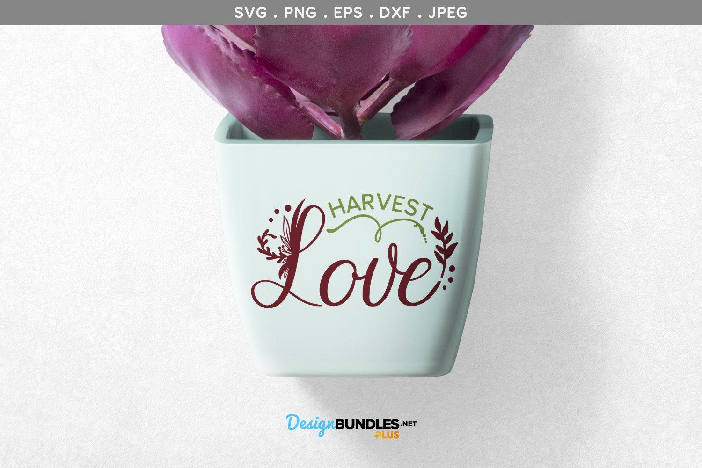 Harvest Love - svg & printable example image 1