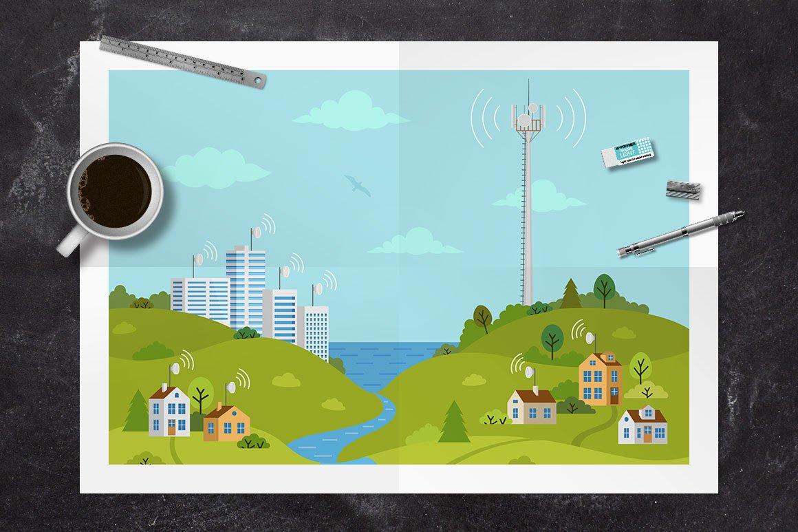 Transmission tower on landscape example image 3