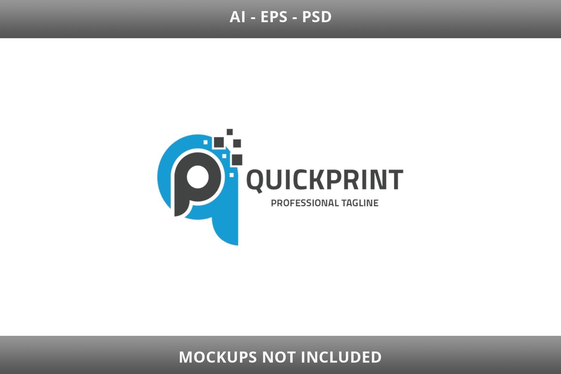 Quick Print Letter QP Logo example image 2
