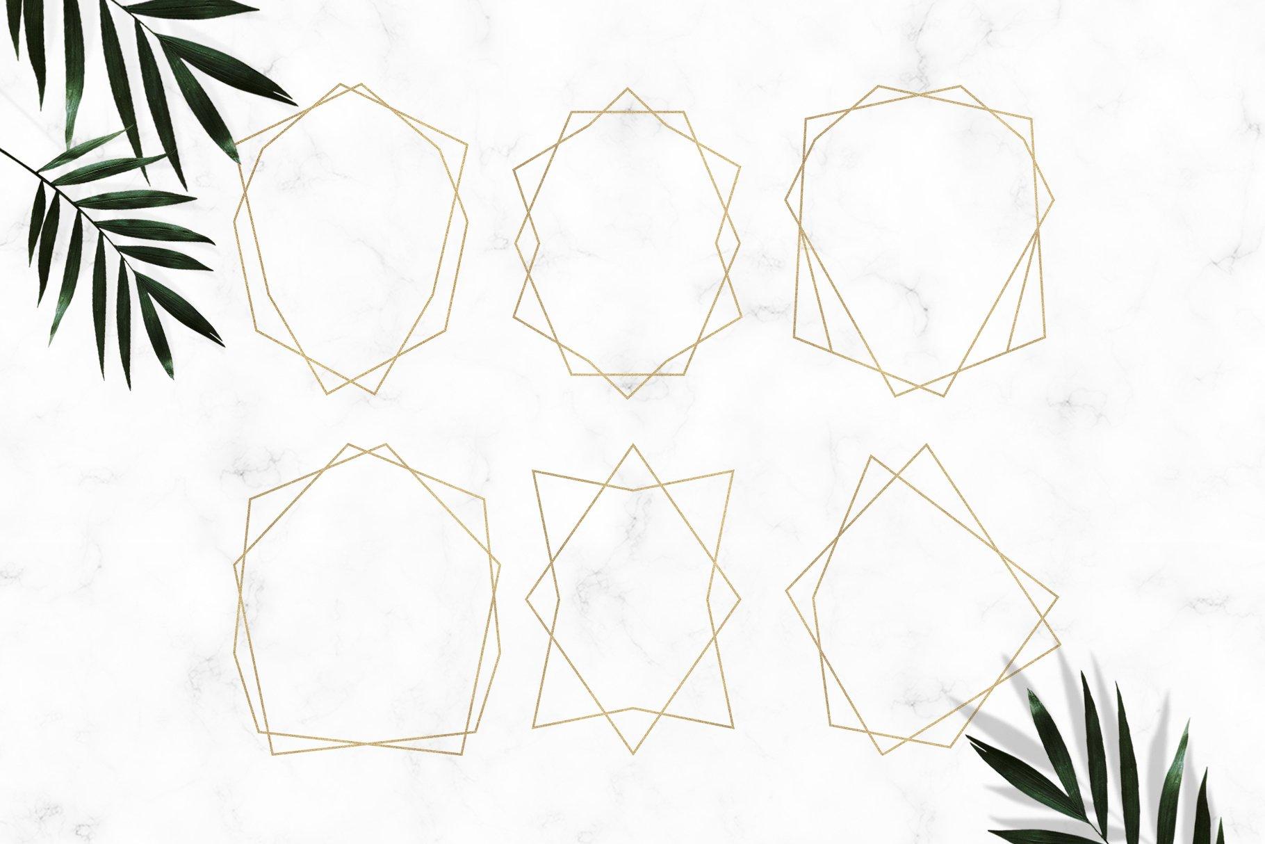 Gold Geometric Frames example image 2