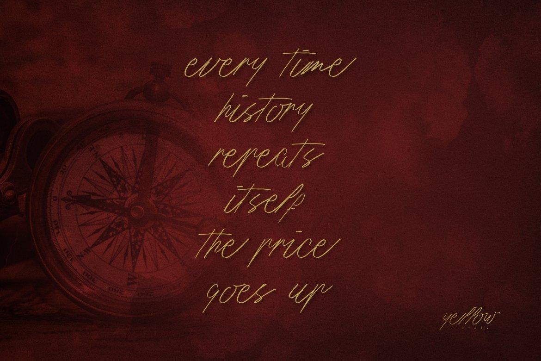 History Script Font example image 3