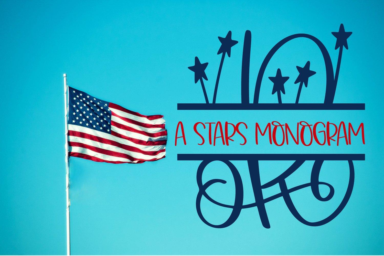 A Stars Split American Monogram Font example image 2