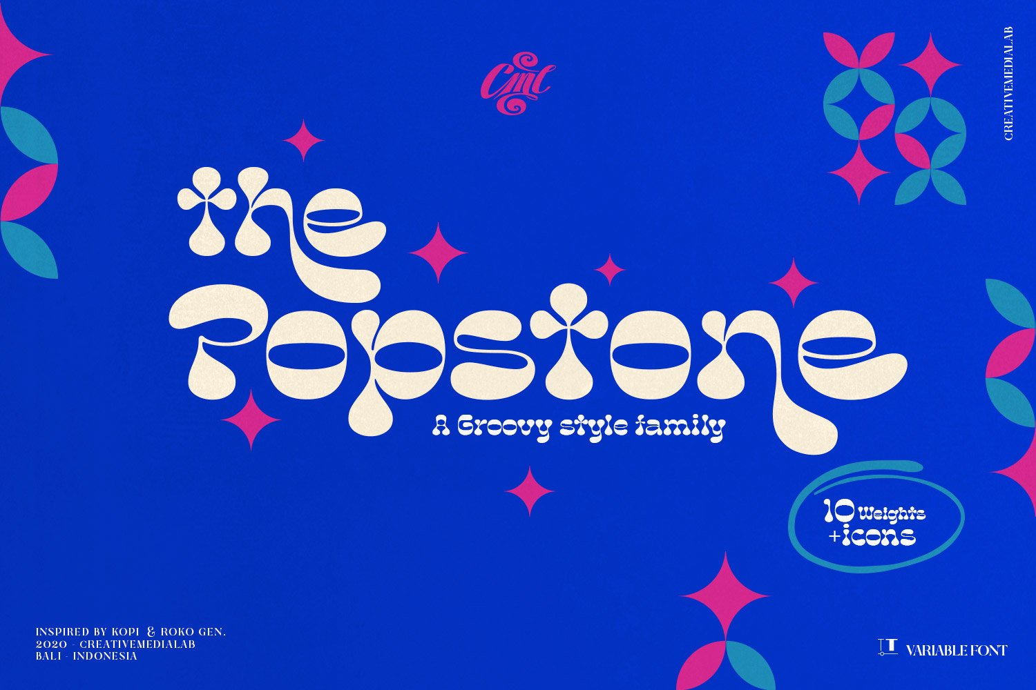 Popstone - Groovy Variable Font example image 4