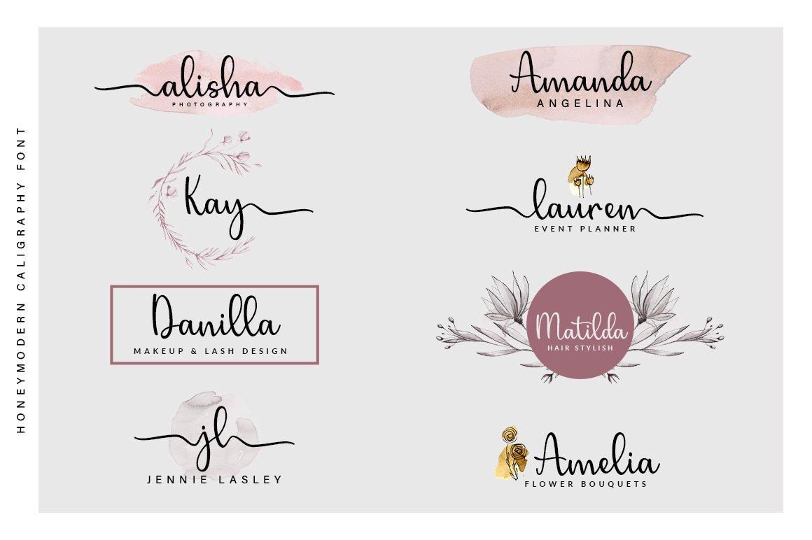 Honey Script Font example image 2