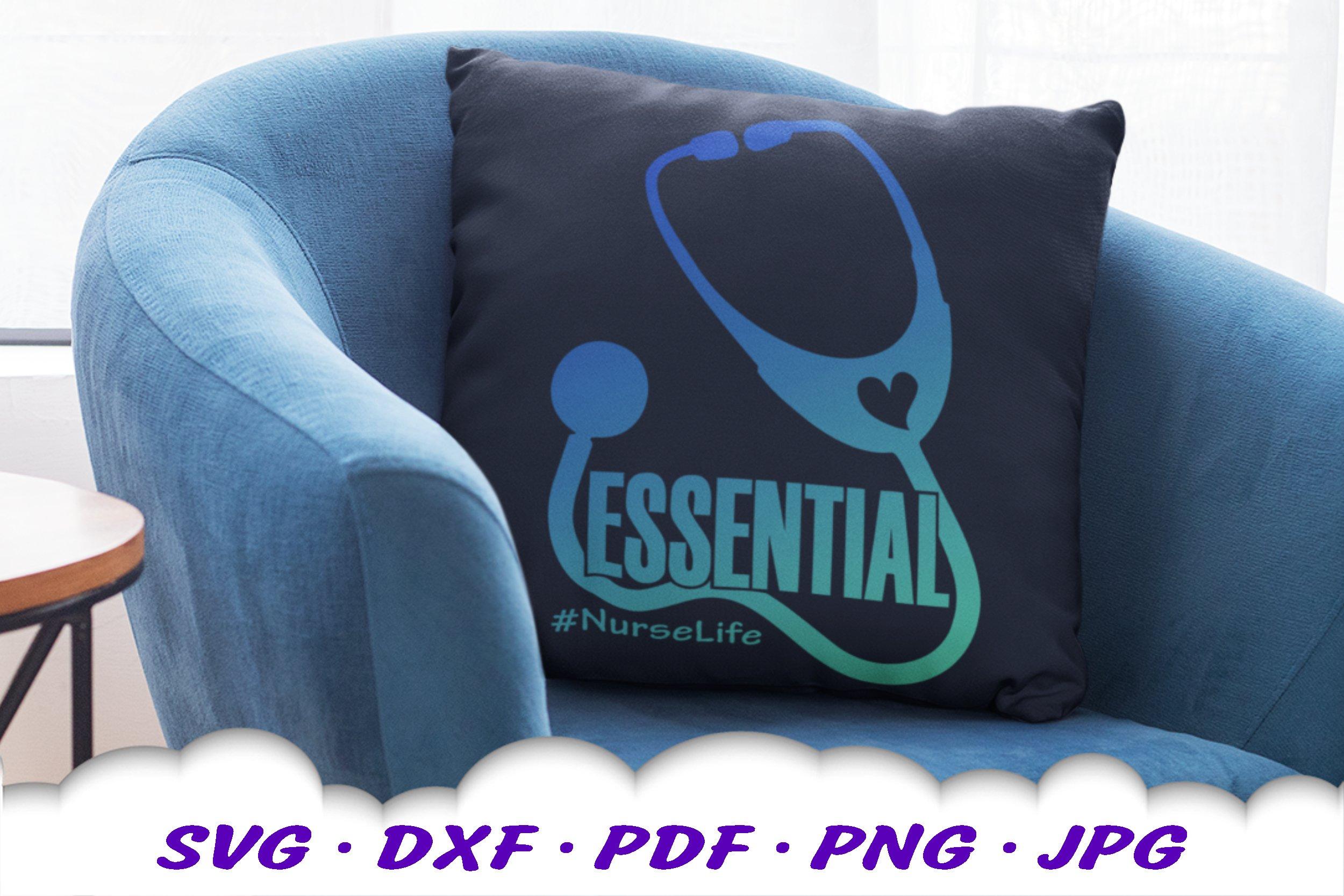 Medical Nurse Stethoscope SVG DXF Cut Files example image 3