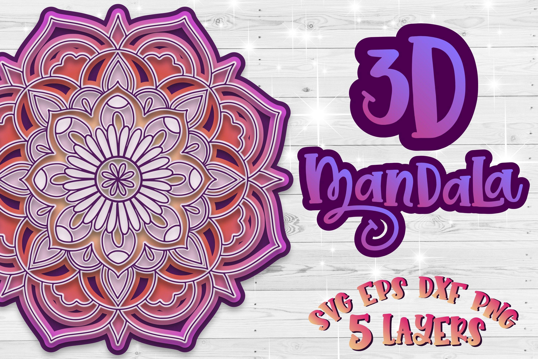 Download 3D Mandala svg Layered mandala 3D Papercut SVG Zentangle ...