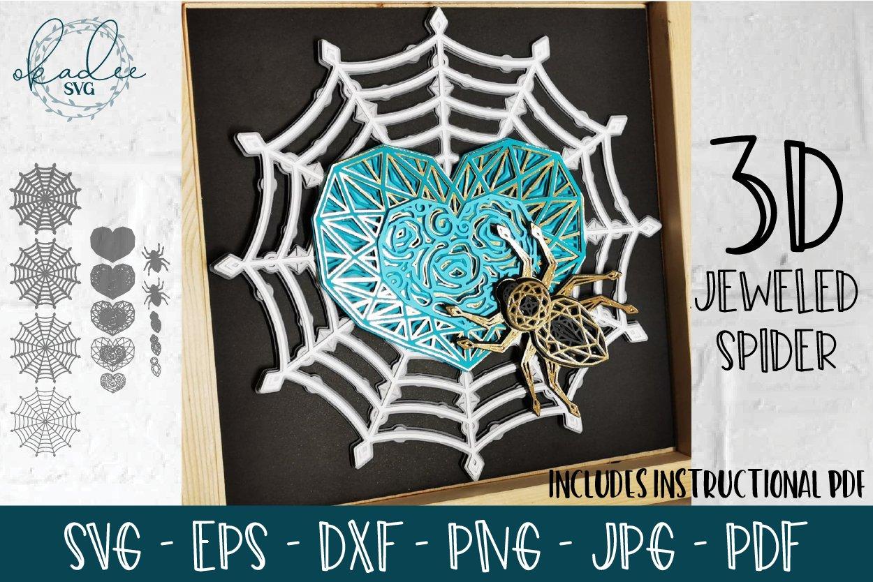 3d Jeweled Spider Web Layered Halloween Mandala Svg Dxf 866335 Paper Cutting Design Bundles