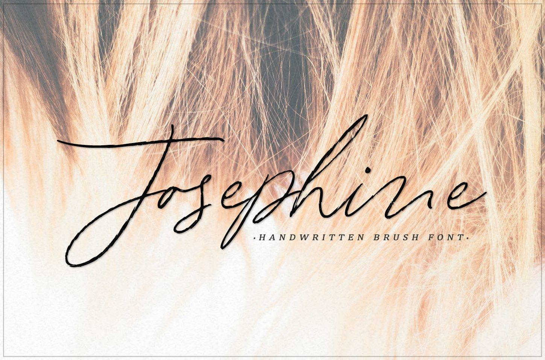 Josephine - handwritten brush font example image 1