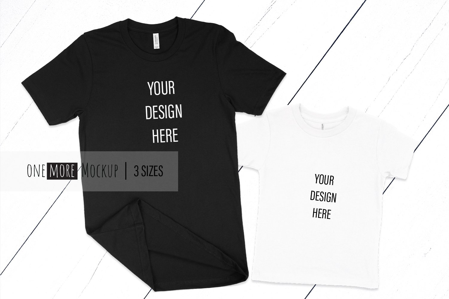 Dad and Me T-Shirts Mockup | Bella Canvas 3001, 3001T example image 1