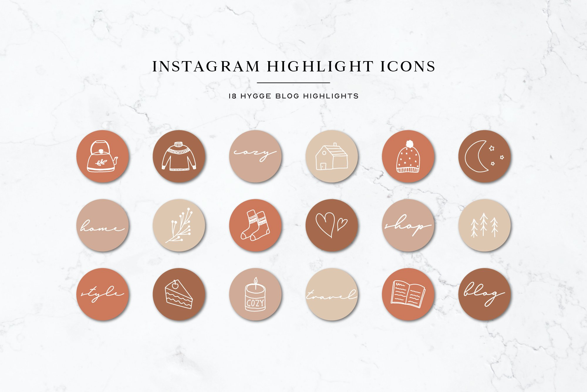 Hygge Instagram Highlights Icons | Instagram Stories example image 2