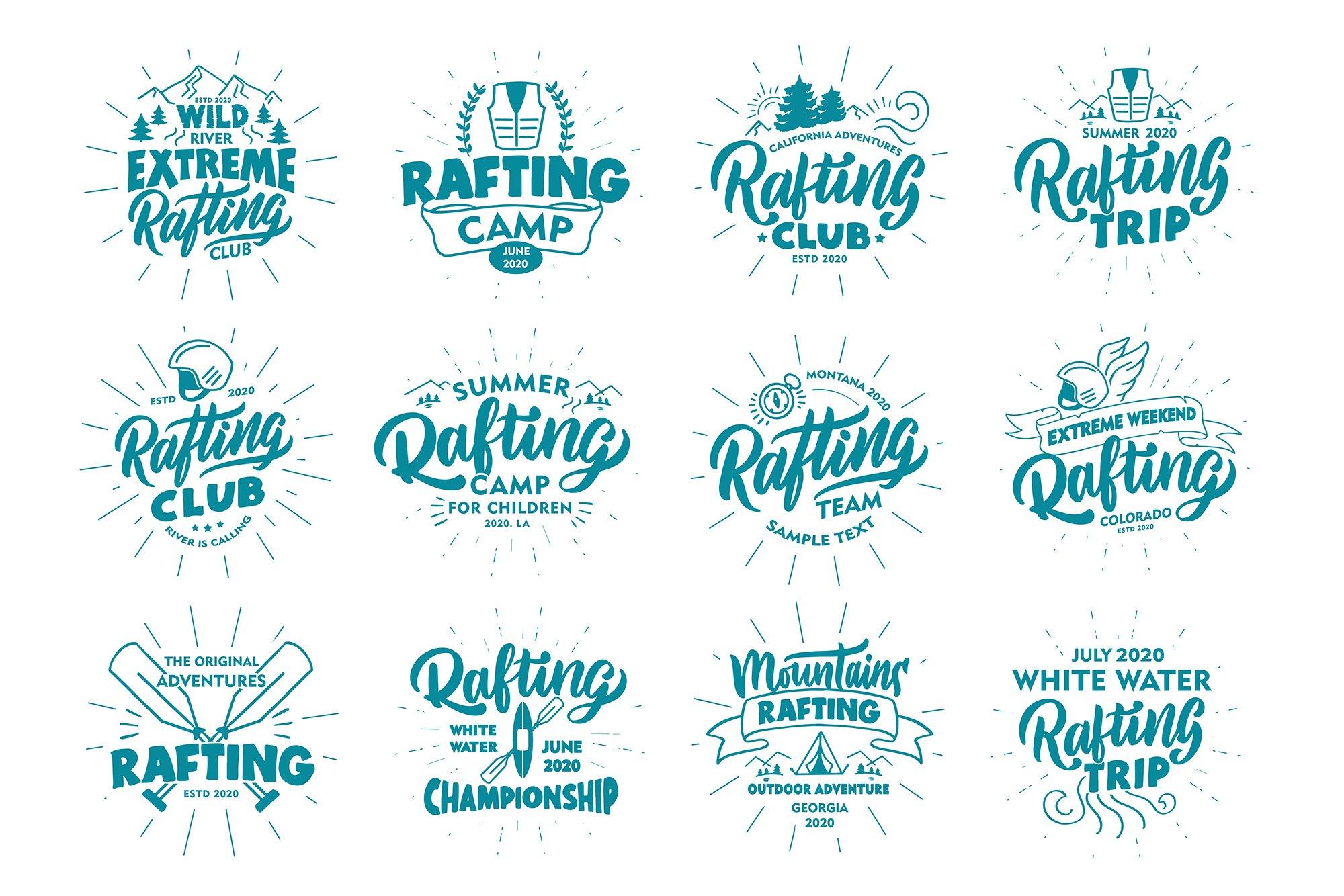 Set of Rafting logos example image 3