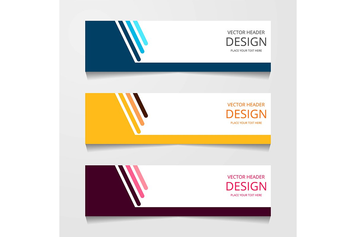 blue, pink, red, yellow, orange, banner, design, template, v example image 1
