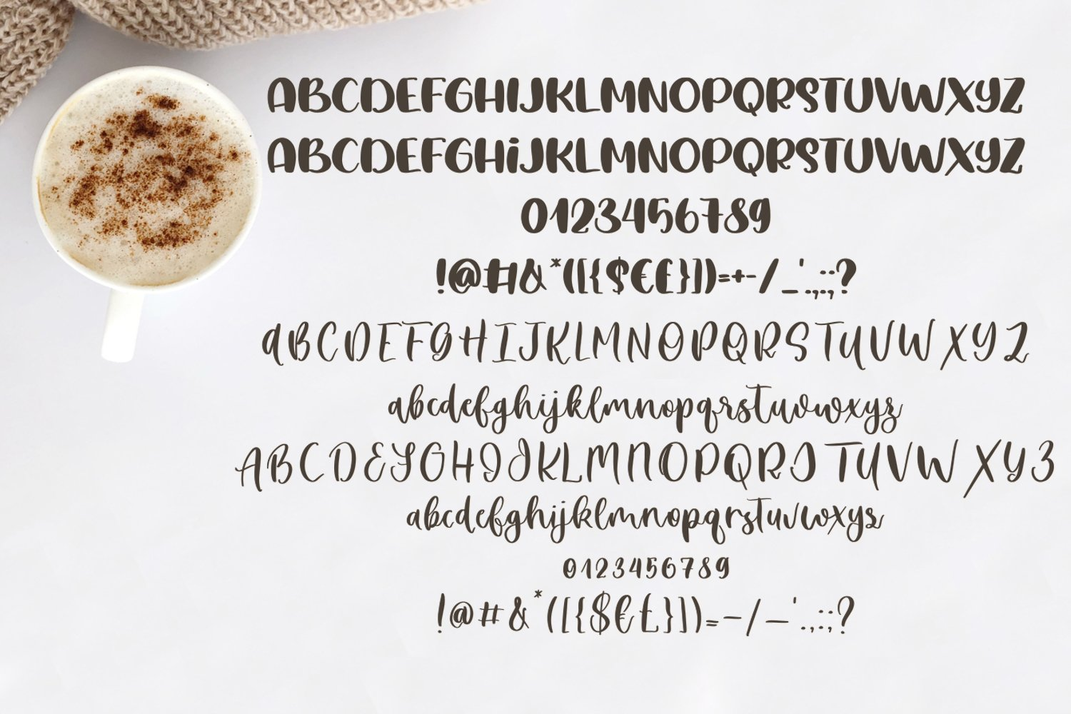 Soya Latte Font Duo example image 5