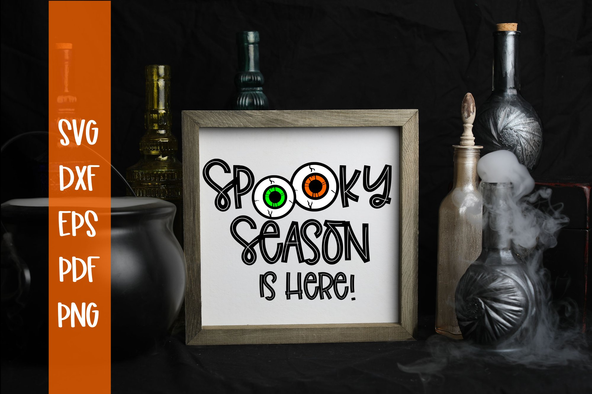 Spooky Season Is here Halloween SVG example image 1