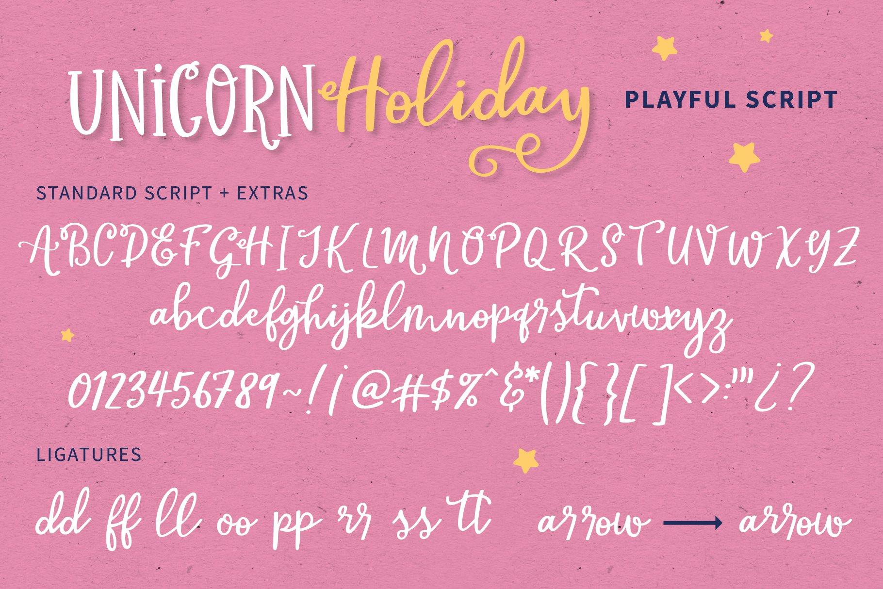 Unicorn Holiday Font Duo example image 4