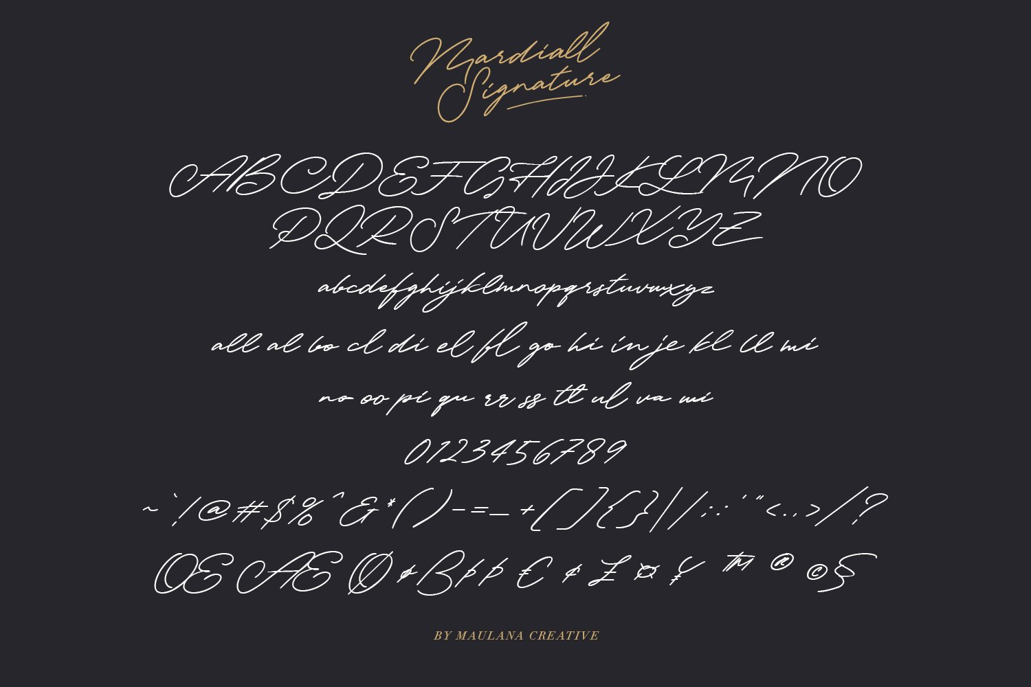 Mardiall Signature Font example image 4
