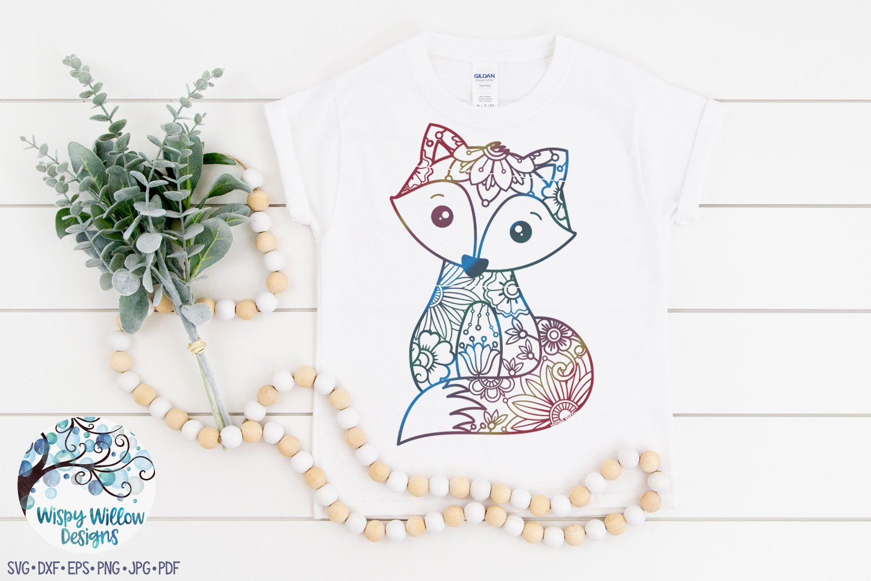 Floral Fox SVG | Fox Mandala SVG Cut File example image 2