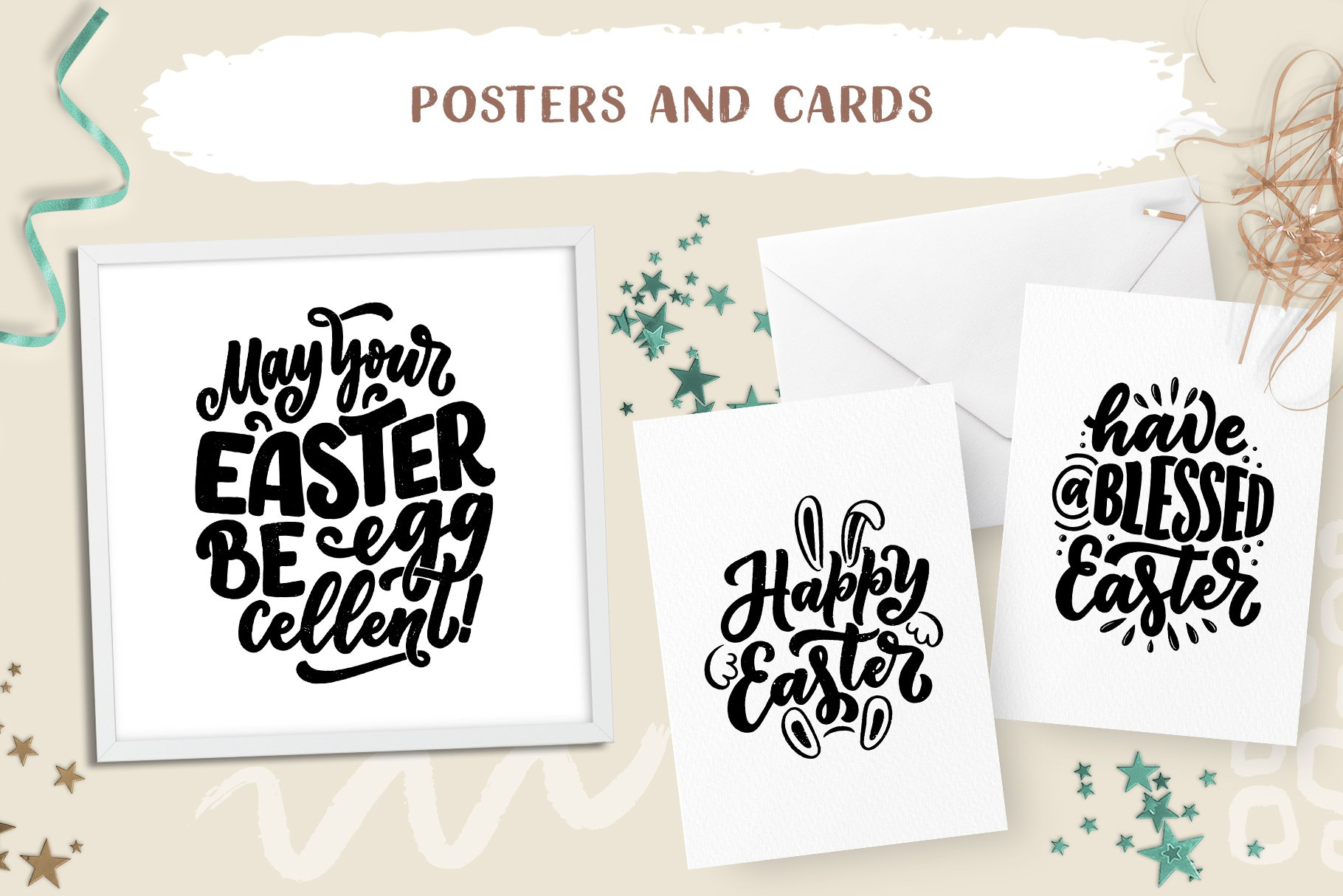 Easter Lettering Set example image 3