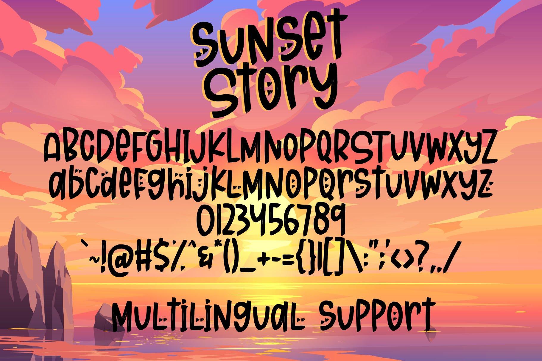 Sunset Story - Handwritten Font example image 2