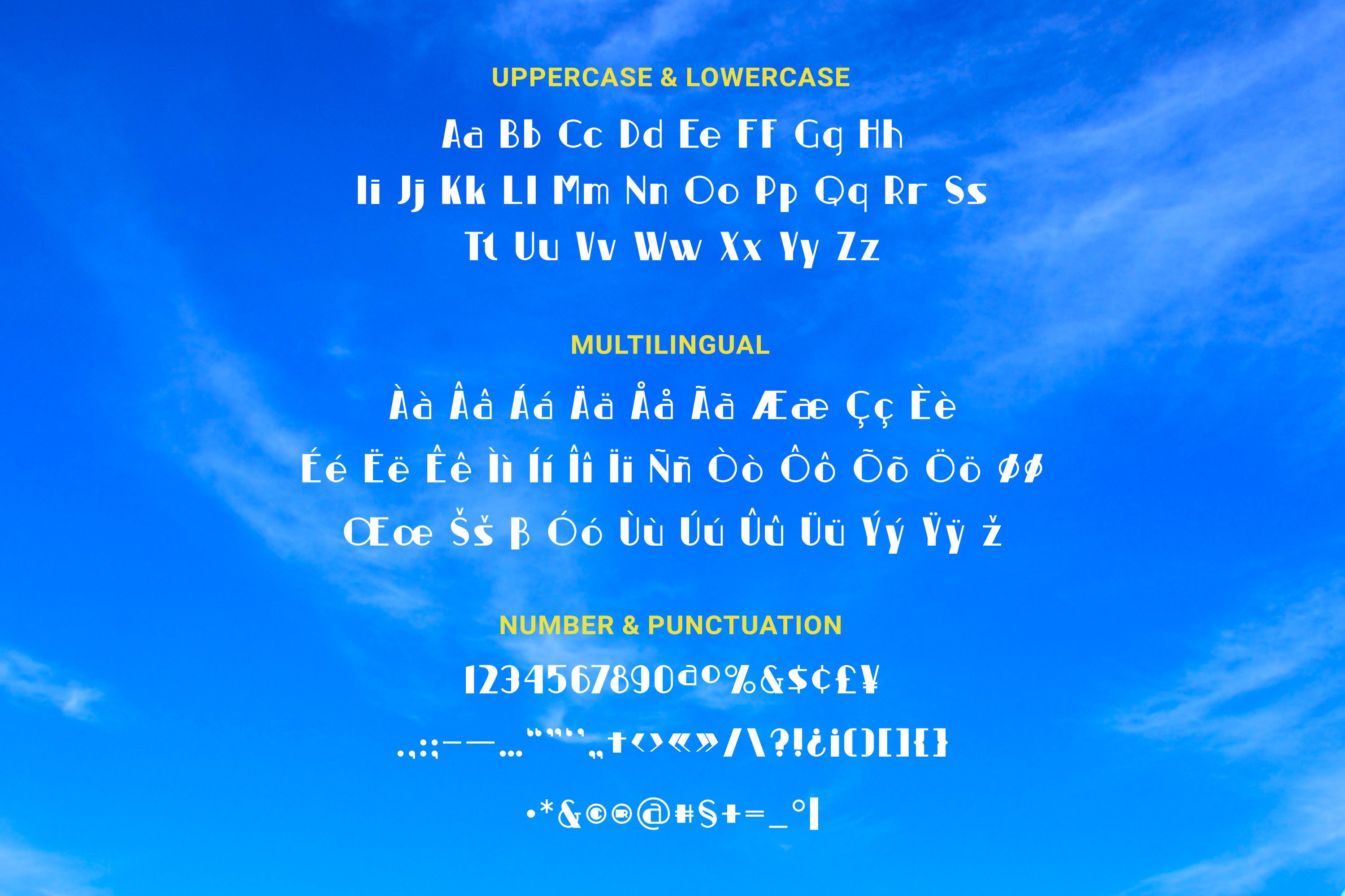 Blue Sky Font example image 3