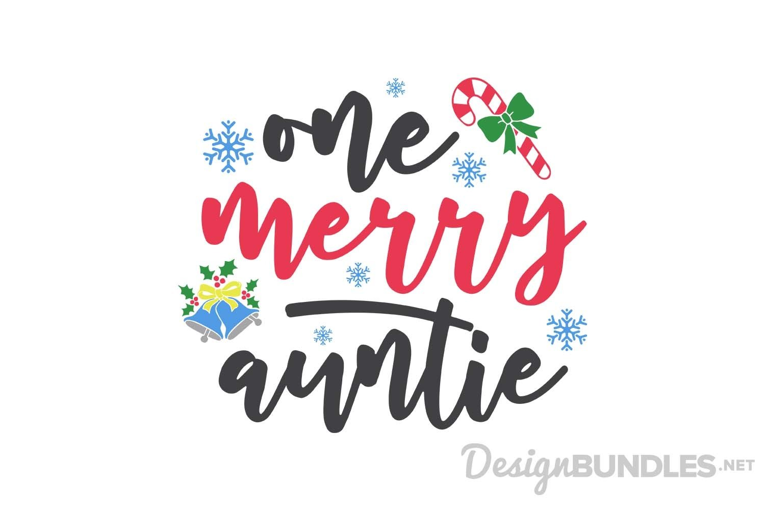 One merry auntie Christmas SVG File example image 1
