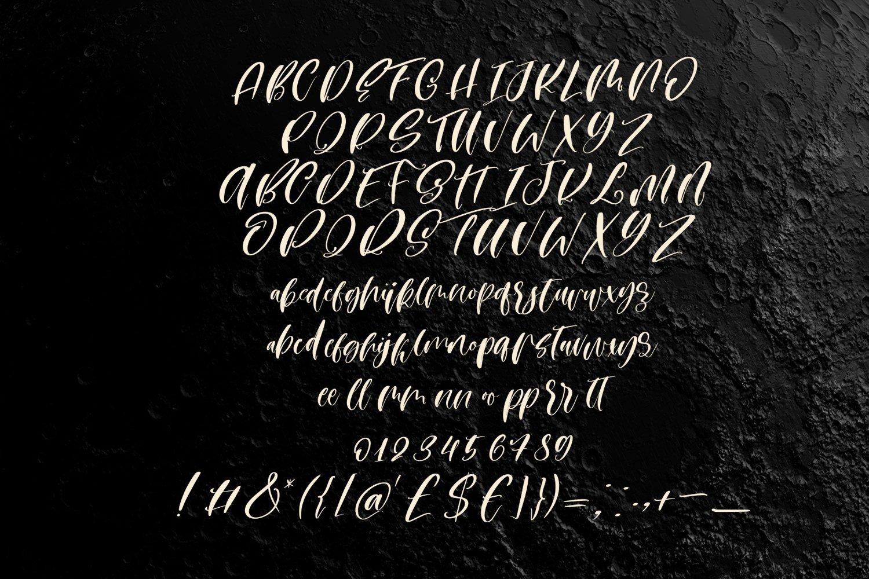 Moon heart script font example image 5