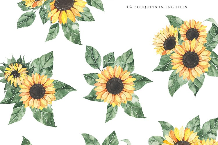 Watercolor Sunflowers collection example image 5